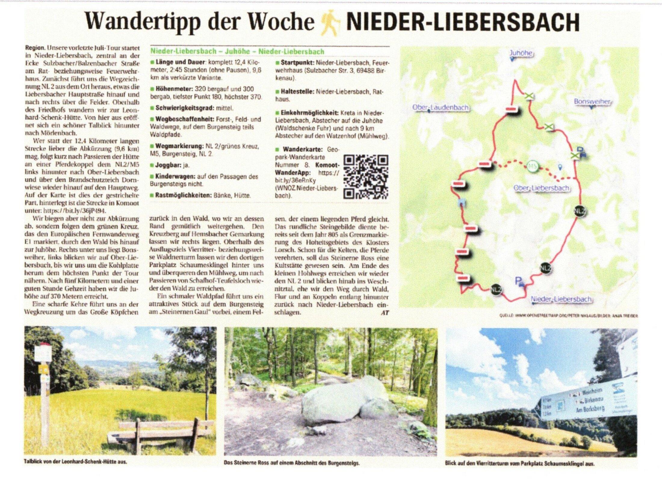 Wandertipp Nieder-Liebersbach 20.07.2021R