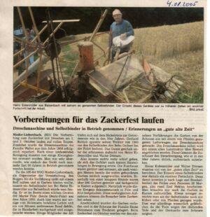 Zackerfest 2005, 1