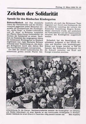 Kindergarten 1998