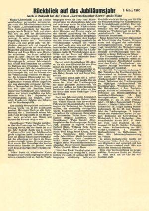Kerweverein Zeitungsartikel Seite 1