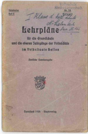 Lehrpläne 1924 S. 01
