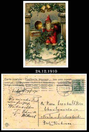 Post nach Liebersbach, Postkarte 1