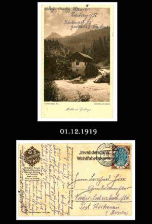 Post nach Liebersbach, Postkarte 9