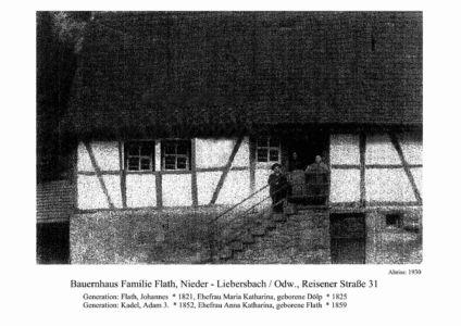 Reisener Straße / Bauerhhaus Familie Flath, Nr. 31, Abriss 1930