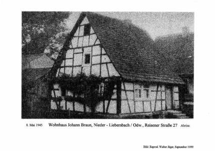 Reisener Straße / Wohnhaus Johann Braun, Nr. 27, Abriss