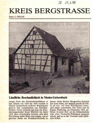 Reisener Straße / Elternhaus von Ernst Dietrich, Nr. 37