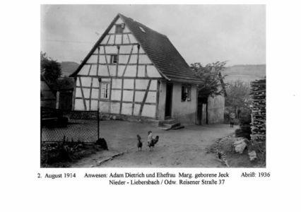 Reisener Straße / Anwesen Adam Dietrich, Nr.37, Abriss: 1936