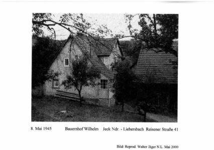 Reisener Straße / Bauernhof, Wilhelm Jeck, Nr. 41,