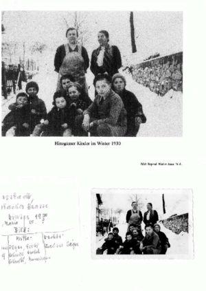 Sulzbacher Straße /  Hinnegasser Kinder Im Winter 1930, Haus 9