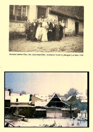"""Sulzbacher Strasse / Hochzeit Kätchen Klein, Sulzbacher Str. 8 (""""Hinegass"""" 1938)"""