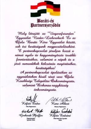 Partnerschaft mit Ófalu