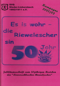 50 Jahre Riewelescher